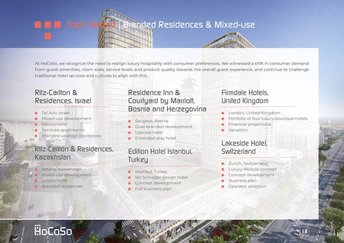HOSPITALITY CONSULTANT Hocoso Brochure Branded Residences