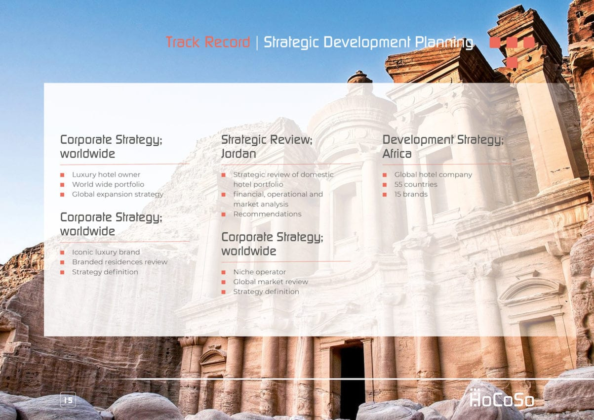 HOSPITALITY CONSULTANT Hocoso Brochure Strategic Planning