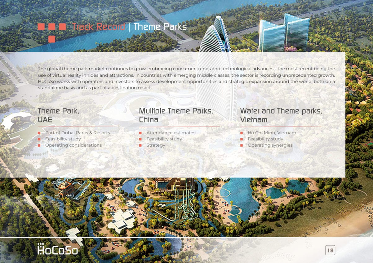 HOSPITALITY CONSULTANT Hocoso Brochure Theme Parks
