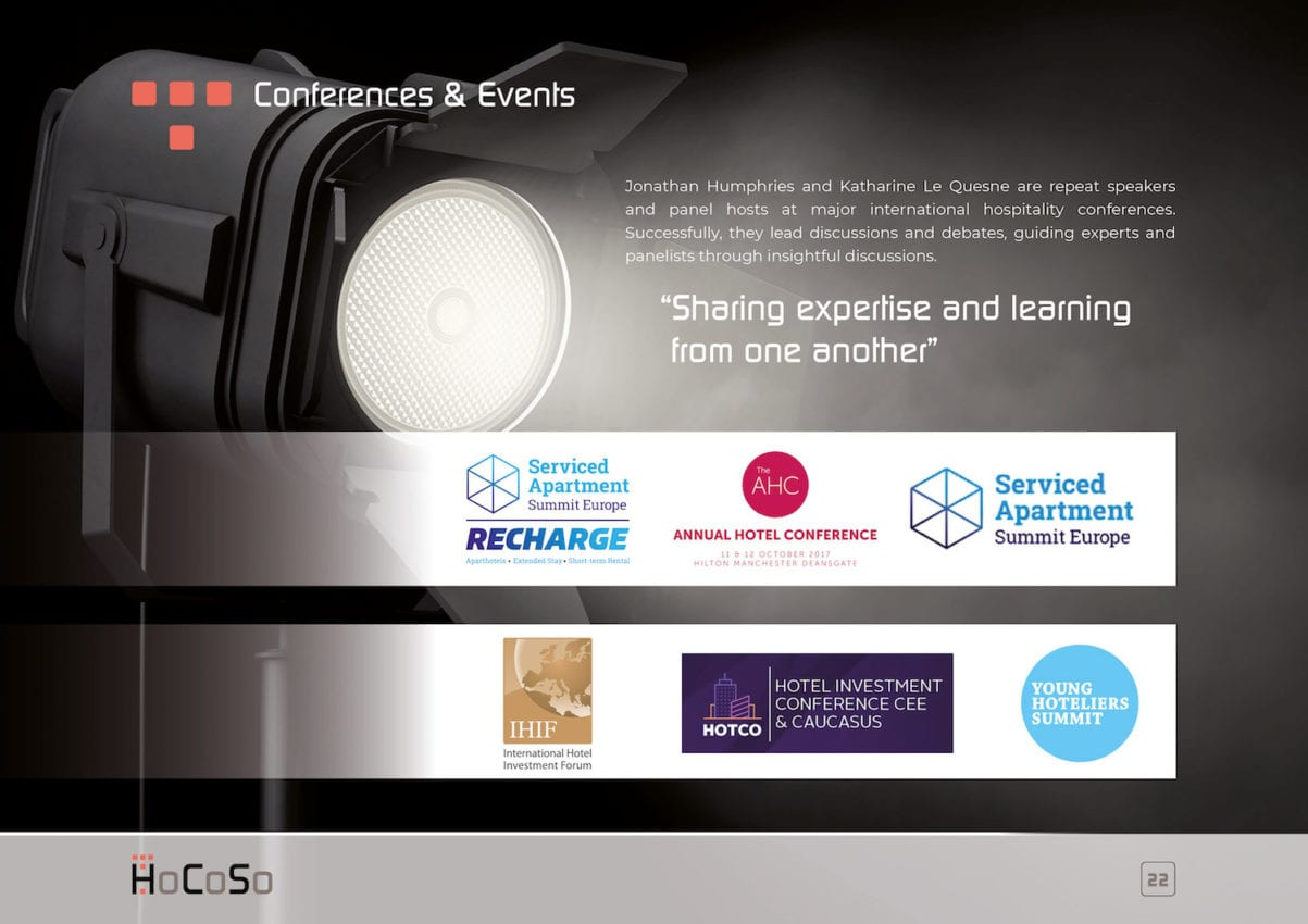 HOSPITALITY CONSULTANT Hocoso Brochure Events