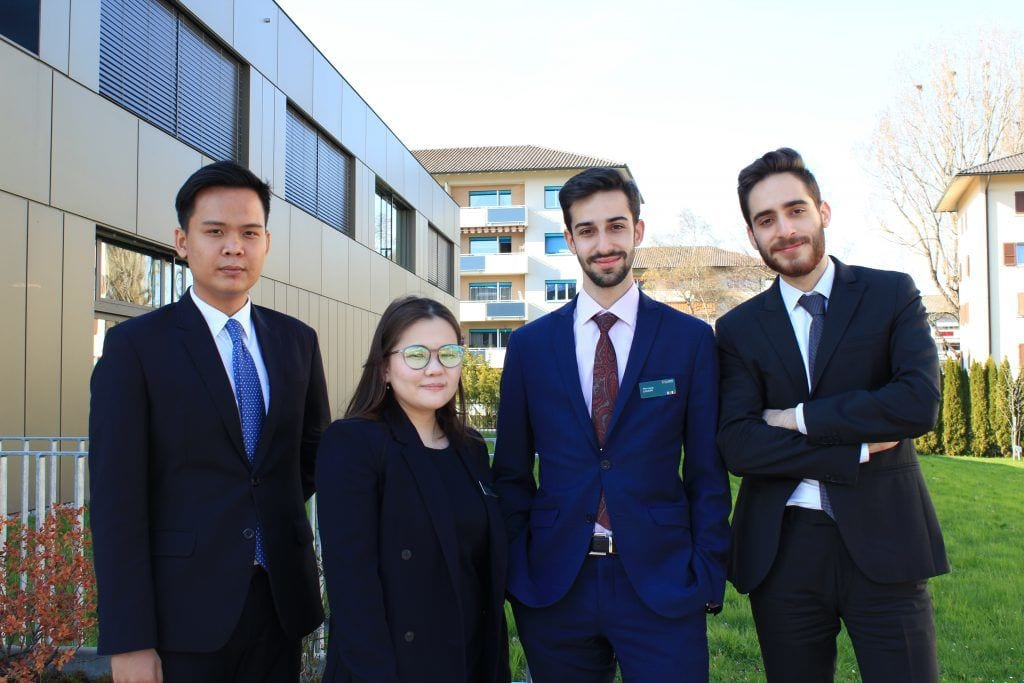 Glion students discuss successful Applied Business Project