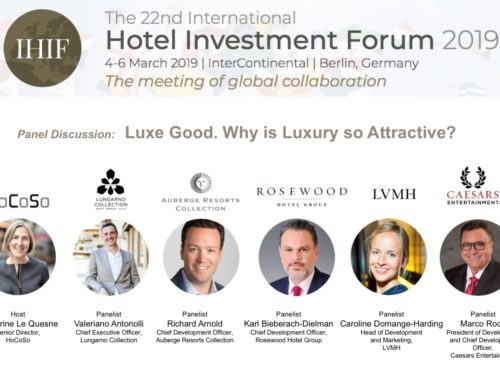 Katharine Le Quesne will host a panel on luxury in hospitality, at the IHIF 2019, on March 5th