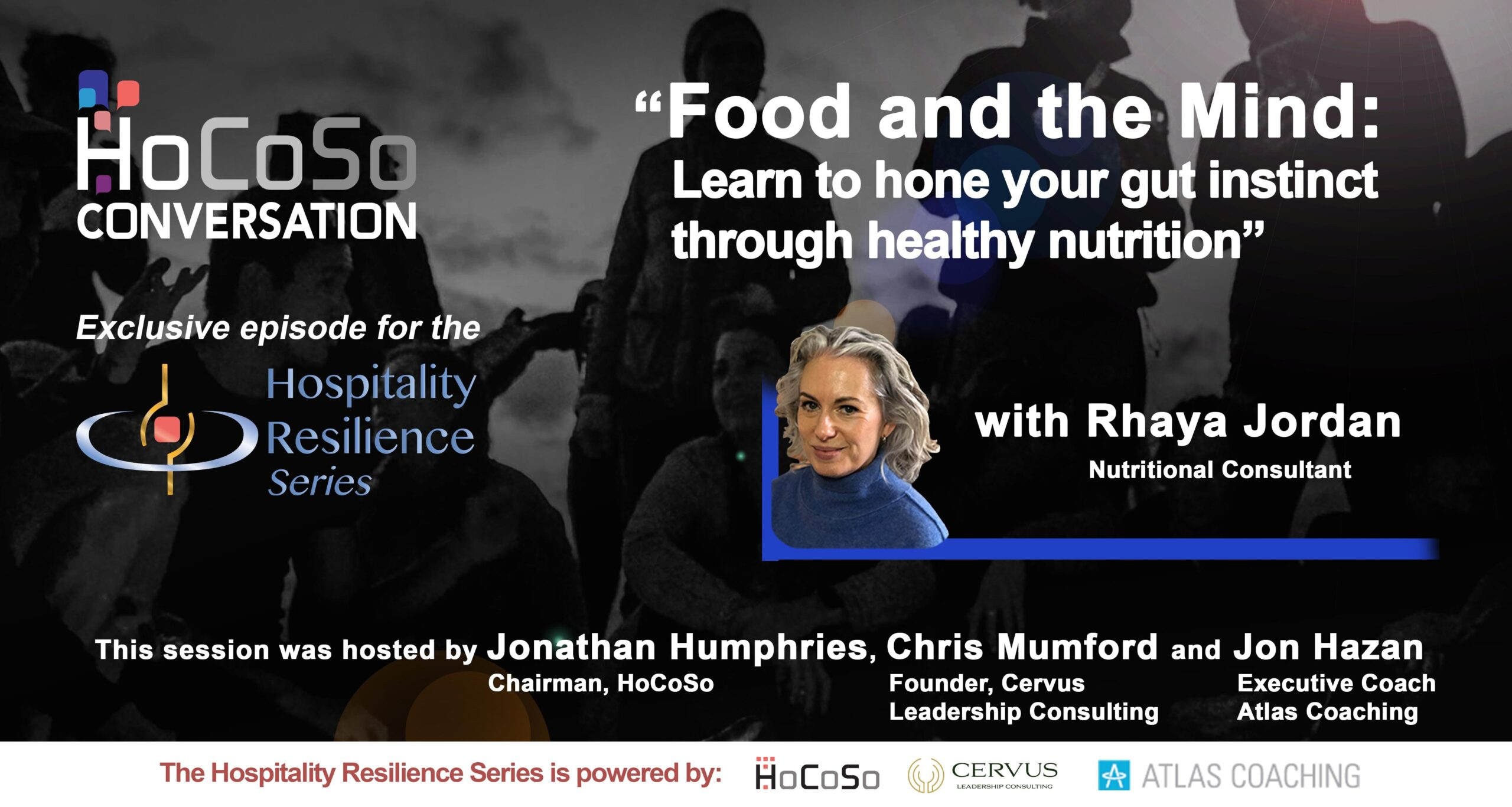 HoCoSo CONVERSATION - Food and Mind / Hone your gut instinct - with Rhaya Jordan
