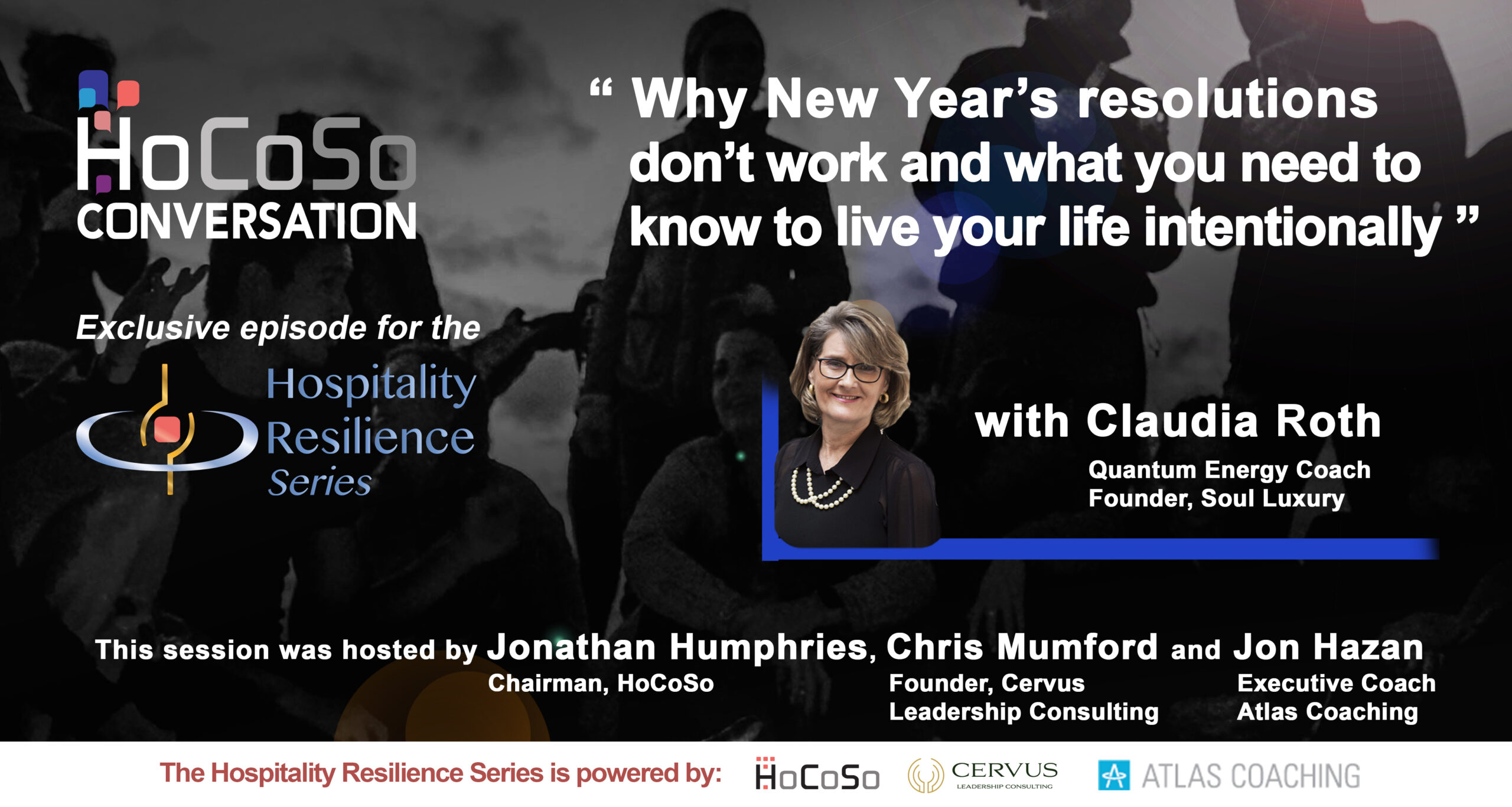 HoCoSo CONVERSATION - Live your life intentionally - with Claudia Roth
