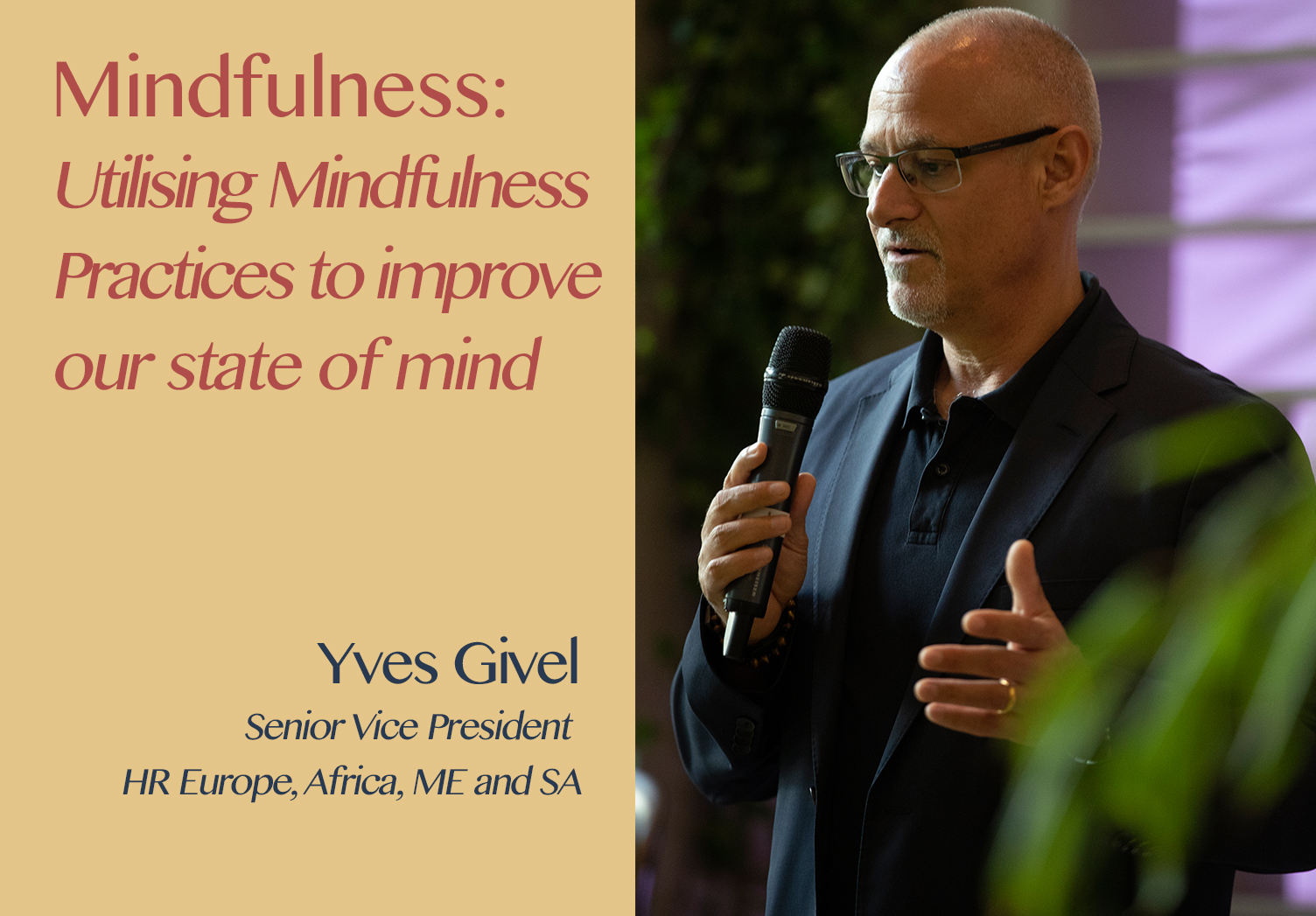 Hospitality Resilience Series on Mindfulness with Yves Givel
