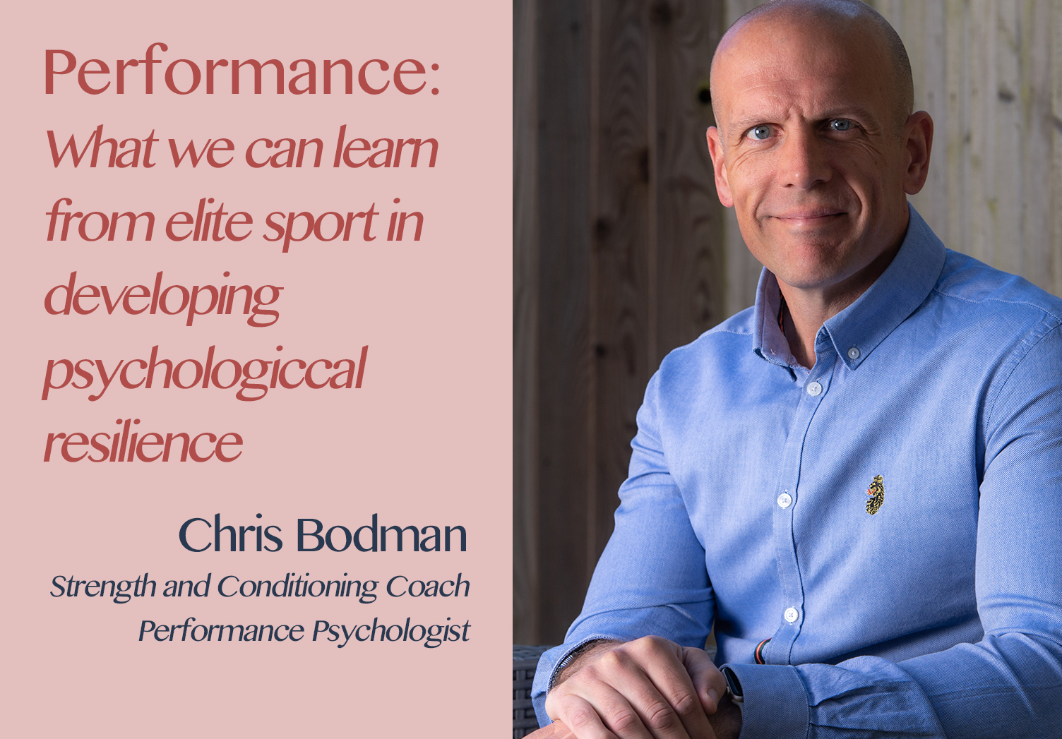 Hospitality Resilience Series on Performance with Chris Bodman